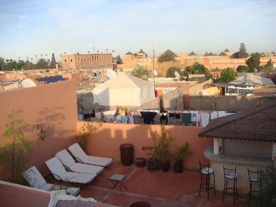 Riad Calista: Vue de la terrasse