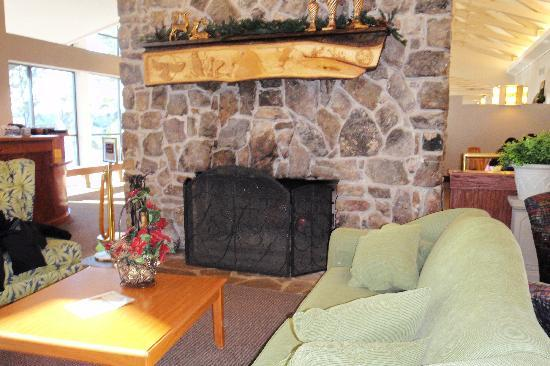 DeGray Lake Resort State Lodge : Fireplace in the lobby