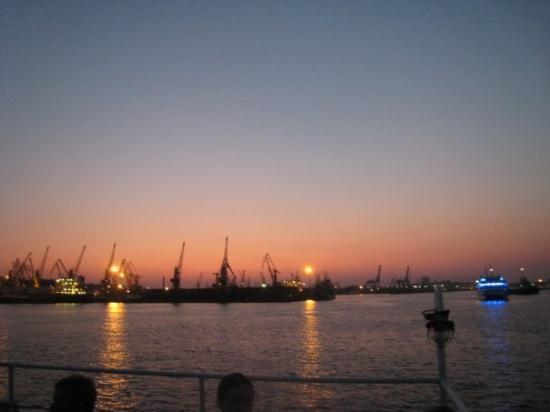 The Odessa Port: Odessa harbor at sunset.