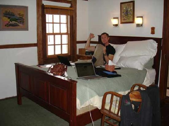 The Inn at the Crossroads: upstairs bedroom in cottage