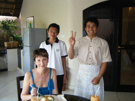 Dusun Villas Bali: Breakfast in the Villa