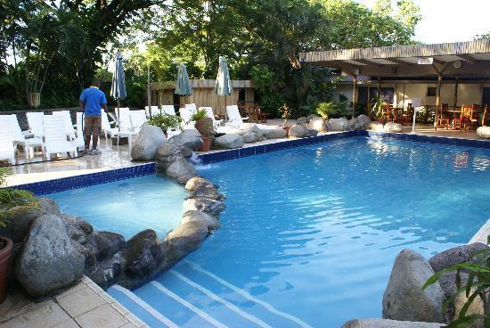Tanoa Skylodge Hotel: プールは10人くらい入ると窮屈を感じそうです。