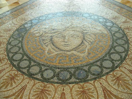 Mosaic floor in the lobby