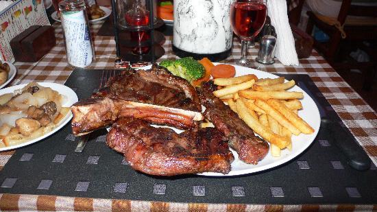 Natalie's Steak House: The big T bone