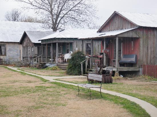 Shack Up Inn: row of some of the shacks...