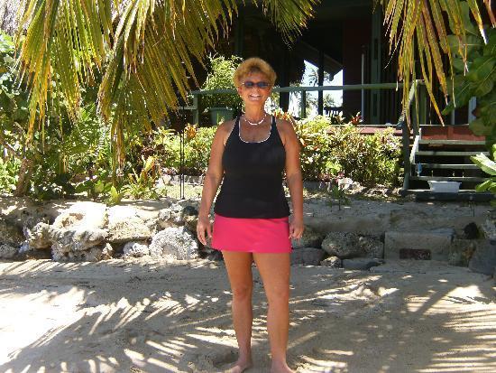 Nukubati Private Island: Mel Enjoying Sun, Sand and Sea