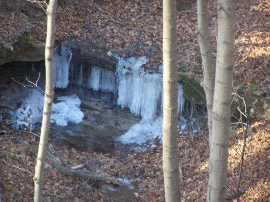 Bethany, WV: frozen waterfall