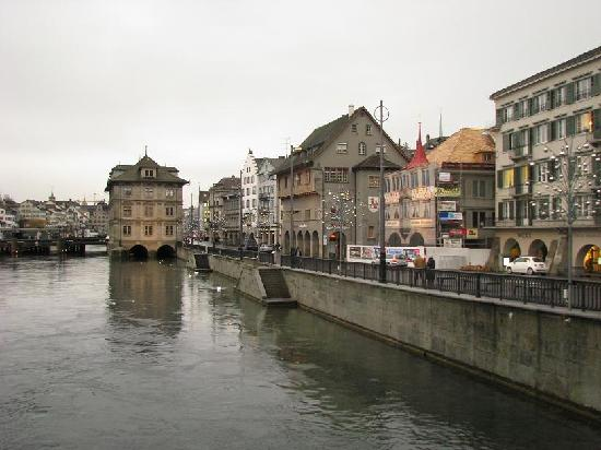 Limmat River Old Town Picture of Zurich Canton of Zurich