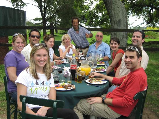 Estancia Los Dos Hermanos : Enjoying lunch with other enjoying the Estancia
