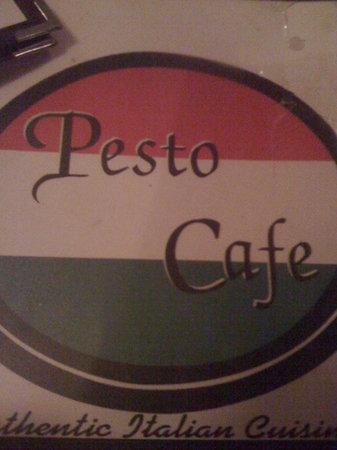 Pesto Cafe logo/menu