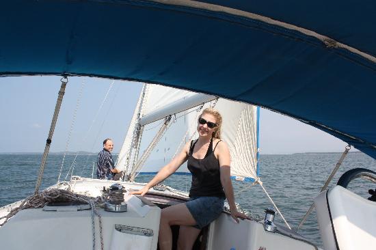 Casa La Fe - a Kali Hotel: Enjoying the sailboat.
