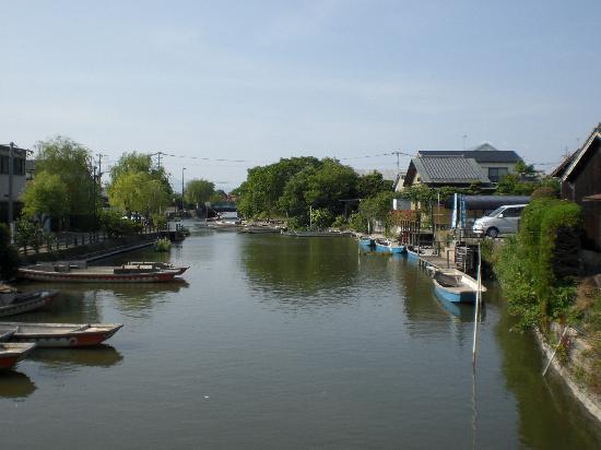 Yanagawa, Japão: 川くだりをする柳川の写真です