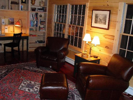 Carrabassett Valley, Μέιν: Relax in the library.