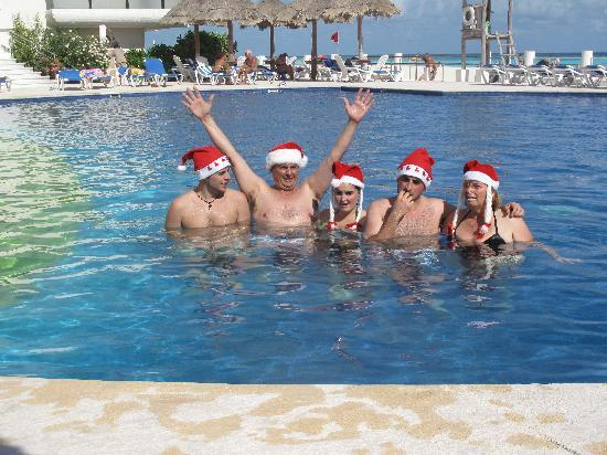 Villas Marlin: In the pool on Christmas day