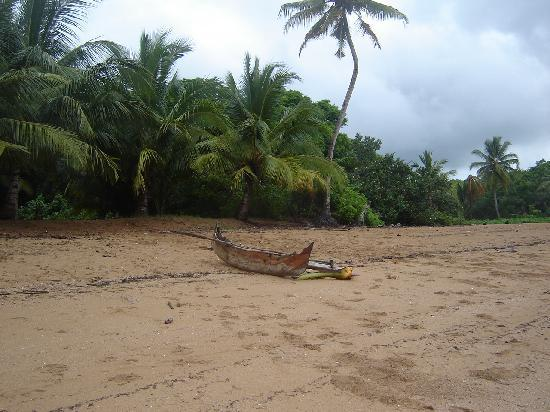 Sakatia Lodge : Piroque on beach