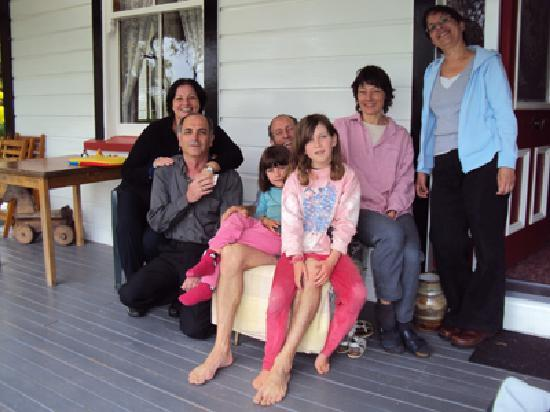 Neudorf's Gingerbread House: Our picture with Doris, Peter & their beautiful daughters