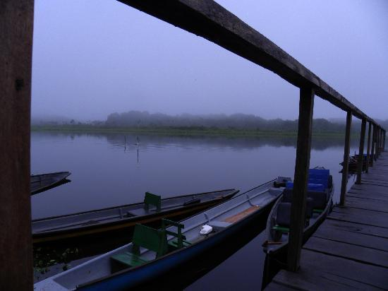 Napo Wildlife Center Ecolodge: Along the pier for a early AM canoe ride