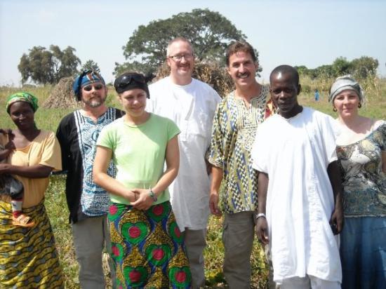 Gombe, Nigeria: (L-R) Joy (Mustafa's wife) Eric Power, Andrea Theye, Paul Cunningham, Greg Gonzales, Mustafa, Si