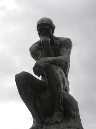 Musée Rodin : estatua do pensador de rodin-paris