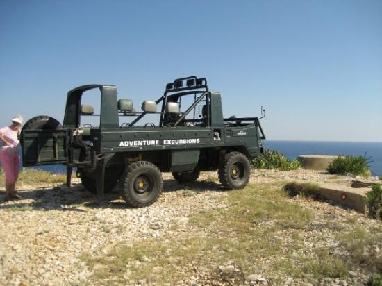 Vis, Kroatia: Our jeep.