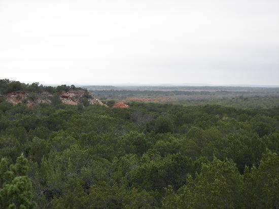 Quanah, Teksas: view from the hiking trail