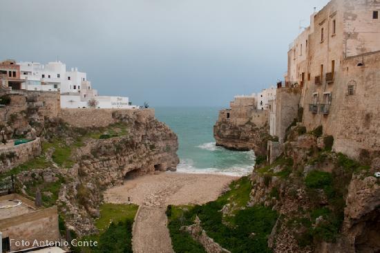Polignano a Mare, Italie : Forse la più bella delle terrazze della costa barese