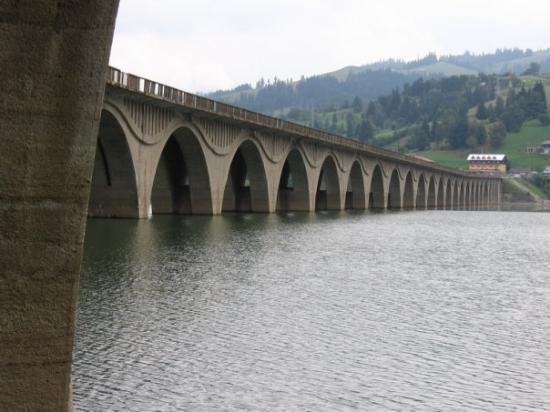 Bicaz lake and dam (Piatra Neamt, Romania)