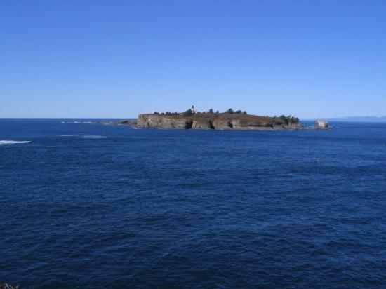 Tatoosh Island as seen from Cape Flattery, just west of Neah Bay, WA, United States