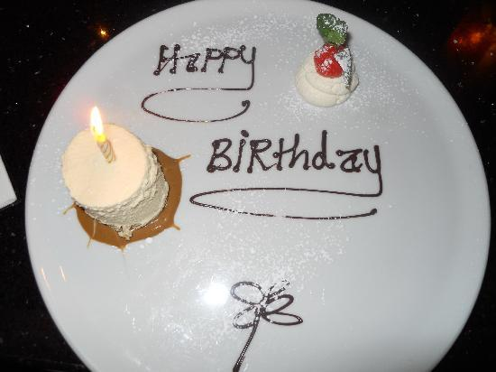 Lord Kenmare's Restaurant: Birthday cake