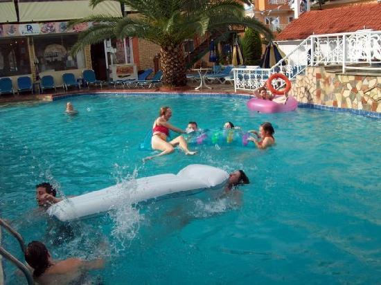 Planos Beach Hotel: Poolside off balcony2