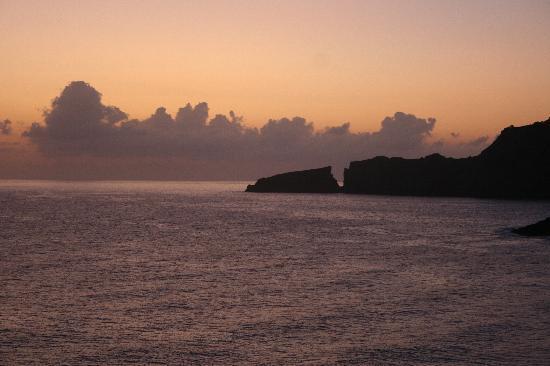 Zafiro Cala Mesquida: Evening view from balcony