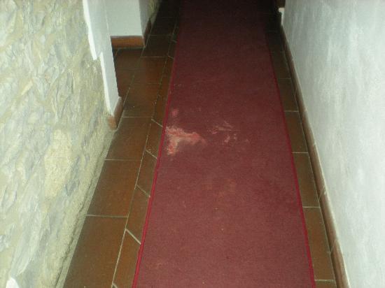 Villa Miranda: Tappeto rosso in ingresso
