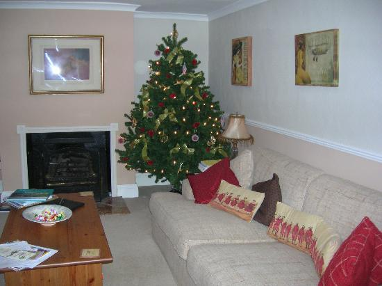Littlewell Farm : lounge with Christmas tree