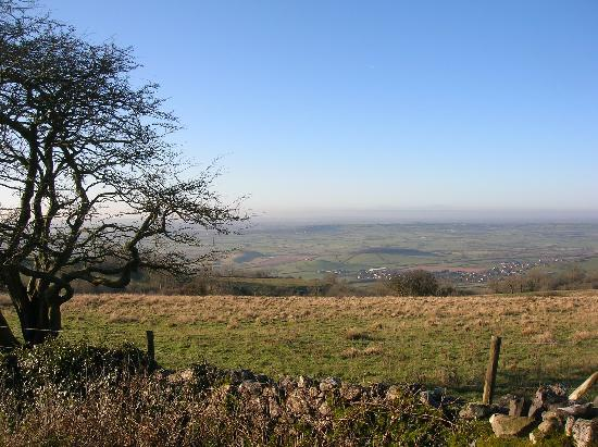 Littlewell Farm : view from Priddy towards the coast