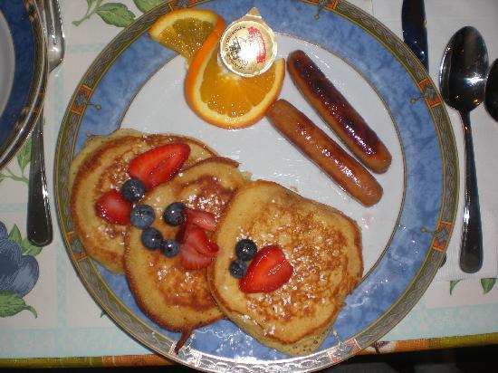 Inn on Somerset: pancakes et bleuets....