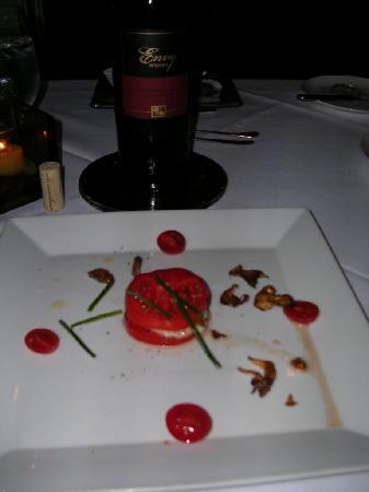 Restaurant 301: Tomato/Mozz/Mushroom appetizer