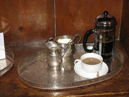 The Main House: Morning coffee service