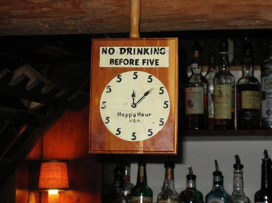 Landgrove Inn: over the bar