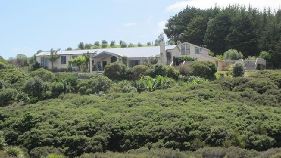 Owhanake Bay Estate: View of Estate from the Bay