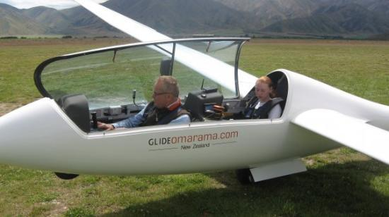 Omarama, New Zealand: me on my first flight
