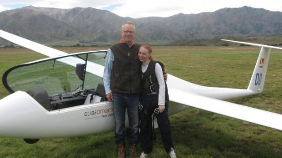 Omarama, New Zealand: me after my first flight