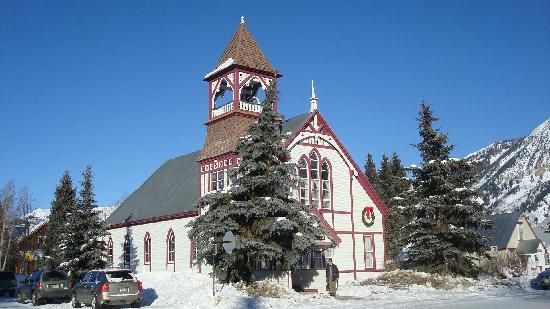 Pioneer Guest Cabins: church in Crested Butte