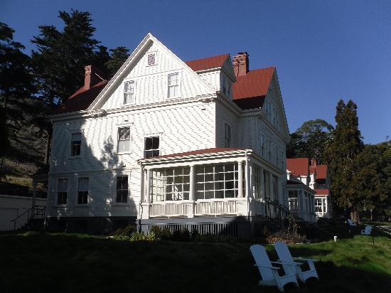 Cavallo Point: Exterior of former Officers Quarters with our suite on the 2nd floor