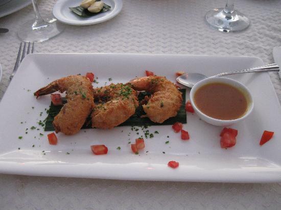 Villa de la Selva: Crevettes coconut !!!!!!