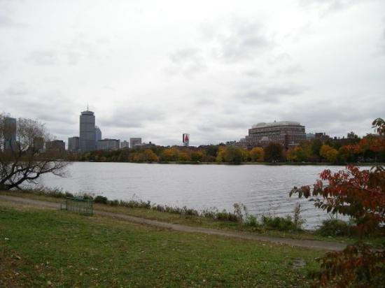 Charles River Bike Path: View of Charles River from Cambridge