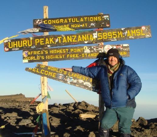 Kilimanjaro Mountain Resort : Made it, out of breath and chuffed to bits