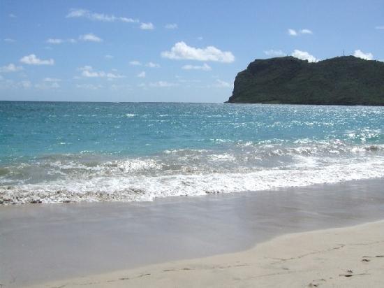 Praslin Quarter, Sta. Lucía: The beach at Vieux Fort