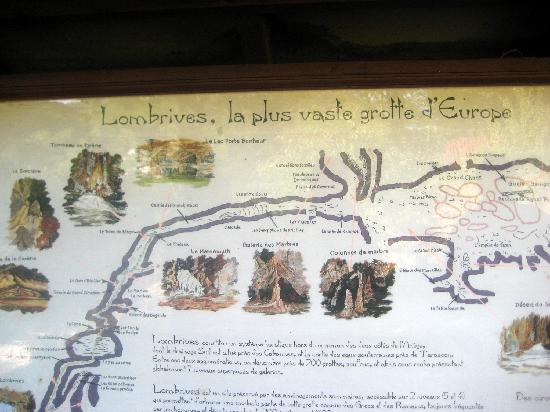 Tarascon-sur-Ariege, Frankrike: Map of the cave system