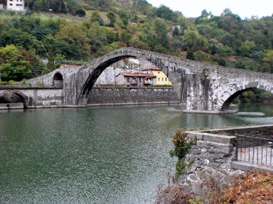 The Devil's Bridge near Lucca