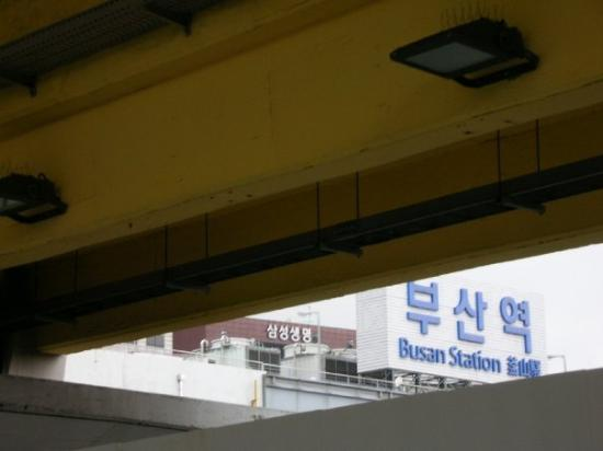 Пусан, Южная Корея: Busan Stn.  FYI, Busan is the 2nd largest city in Korea with 4million people and GDP per capit